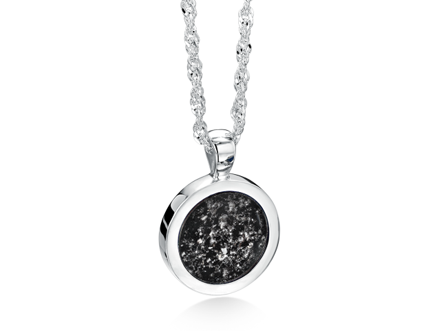 Ashes into glass robert shipp daughter independent family round long pendants available in silver gold white gold aloadofball Images